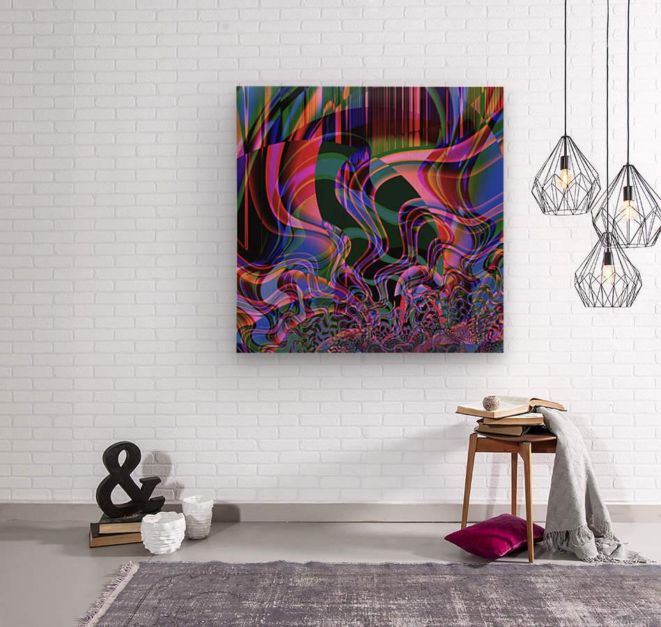 Aurora_Borealis  Wood print