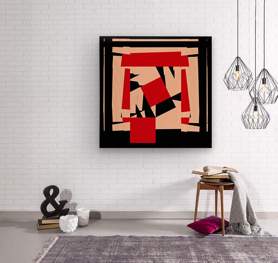 Juggling_Piet_Mondrian  Wood print