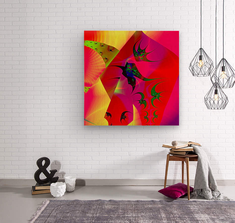 Sun_Flies  Wood print