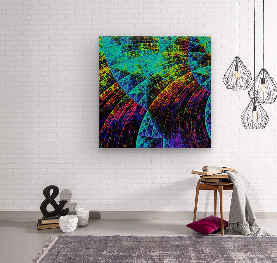 Mandala_a_la_Sierpinski  Wood print