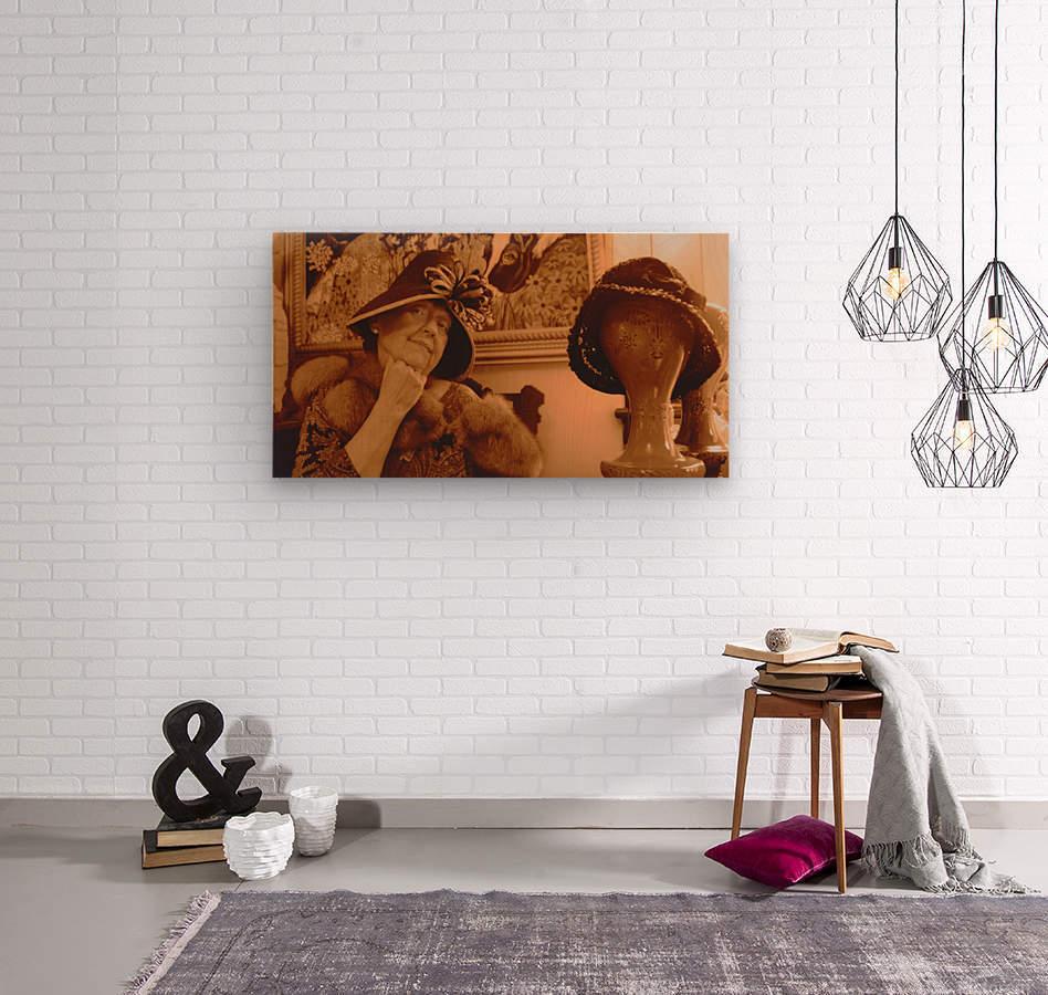 Ms Langone  Wood print
