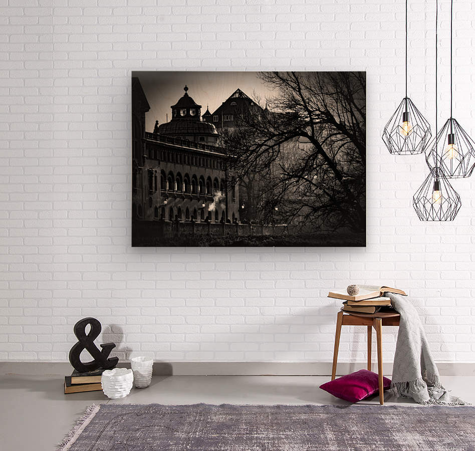 Volksbad  Wood print