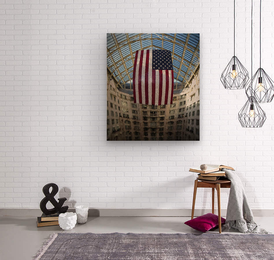 United States Flag  Wood print