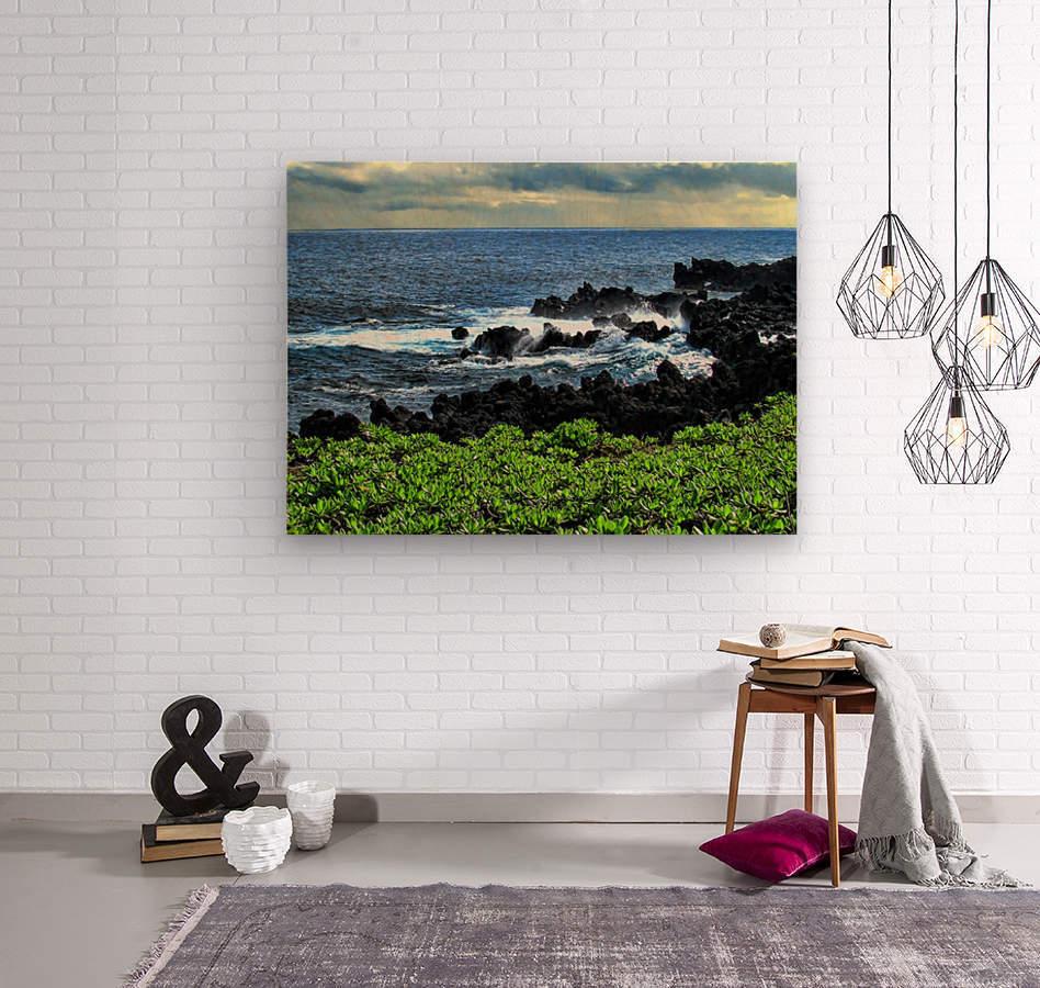 Hana Beach Hawaii  Wood print