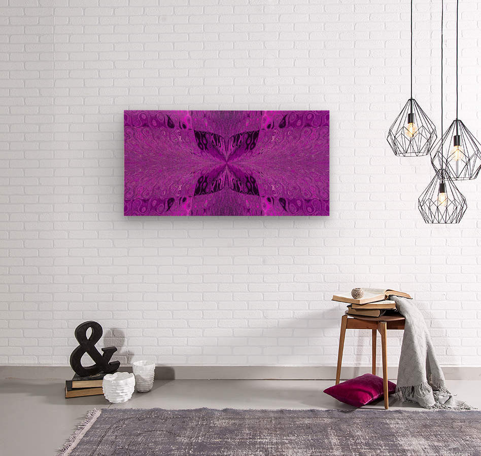 Butterfly in Crystal 19  Wood print