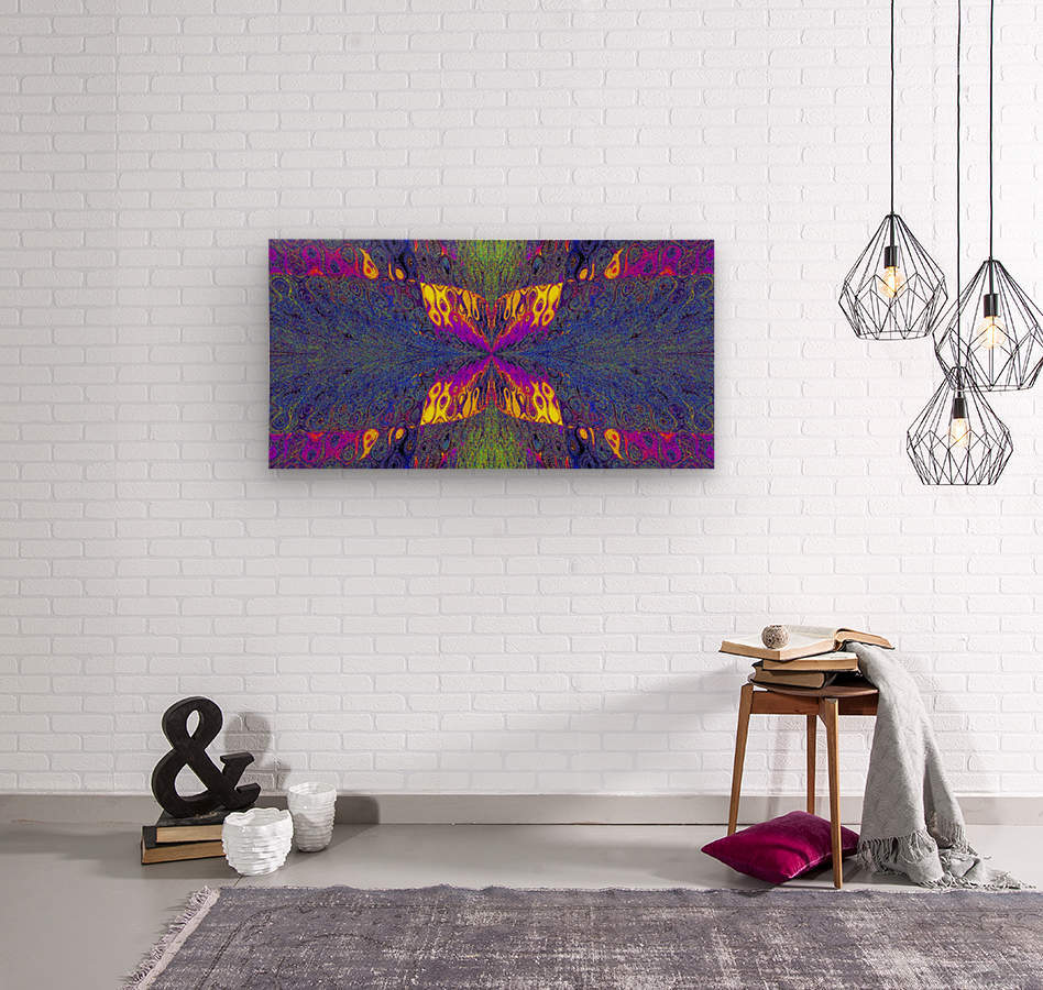 Butterfly in Crystal 23  Wood print