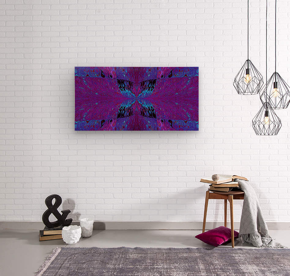 Butterfly in Crystal 29  Wood print