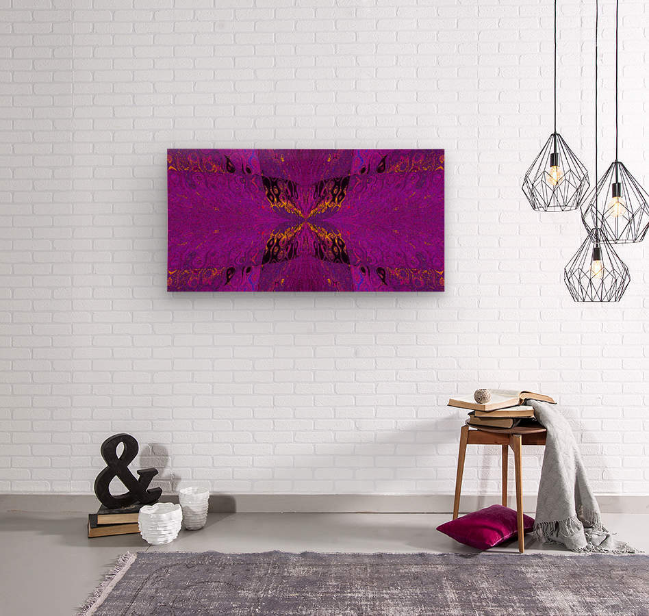 Butterfly in Crystal 37  Wood print