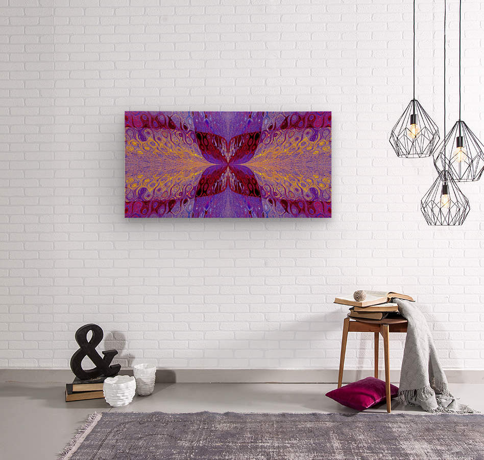 Butterfly in Crystal 46  Wood print