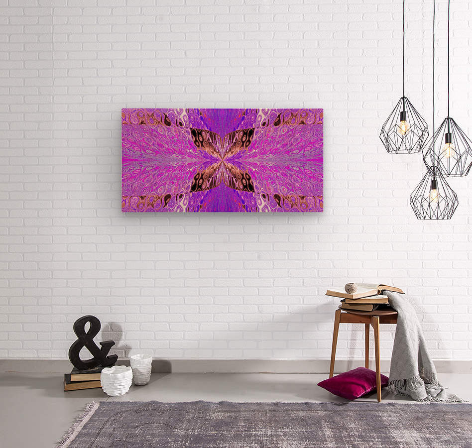 Butterfly in Crystal 49  Wood print