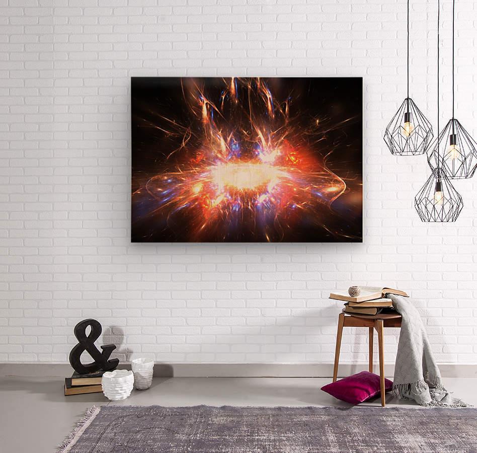 Angry galaxy e  Wood print