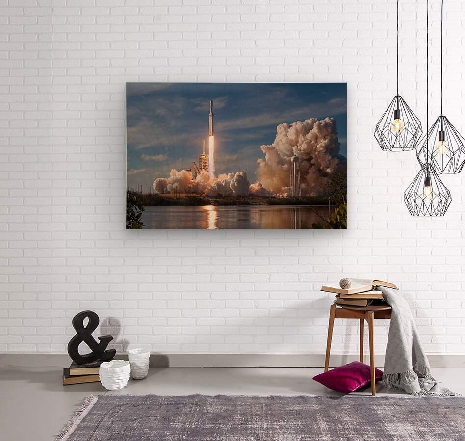 Falcon Heavy Demo Mission 020118  Wood print