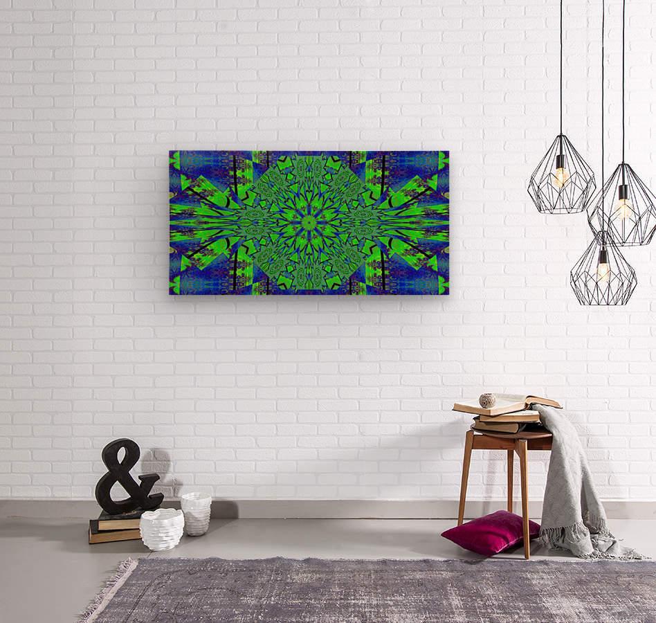 Dahlia in Green  Wood print