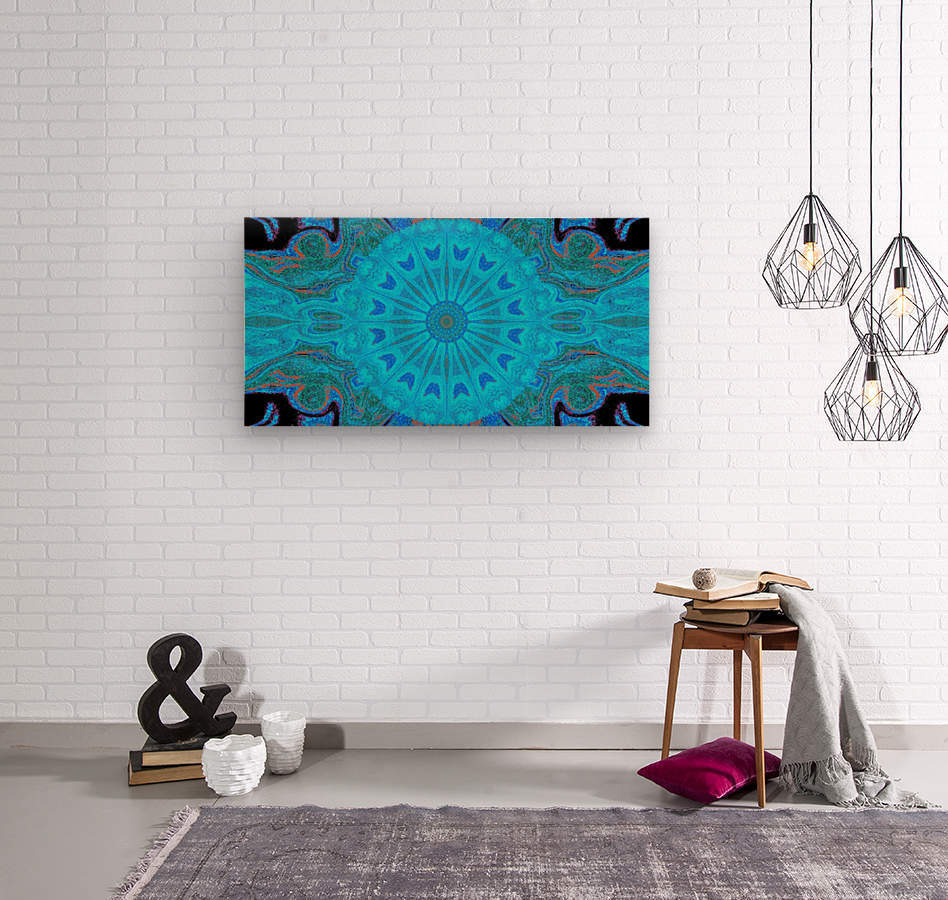 Blue Wildflower in Light  Wood print