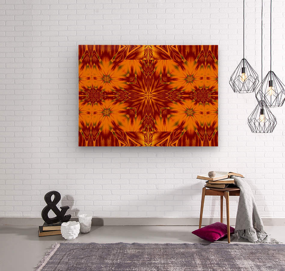 Gold Star of the Meadow  Wood print