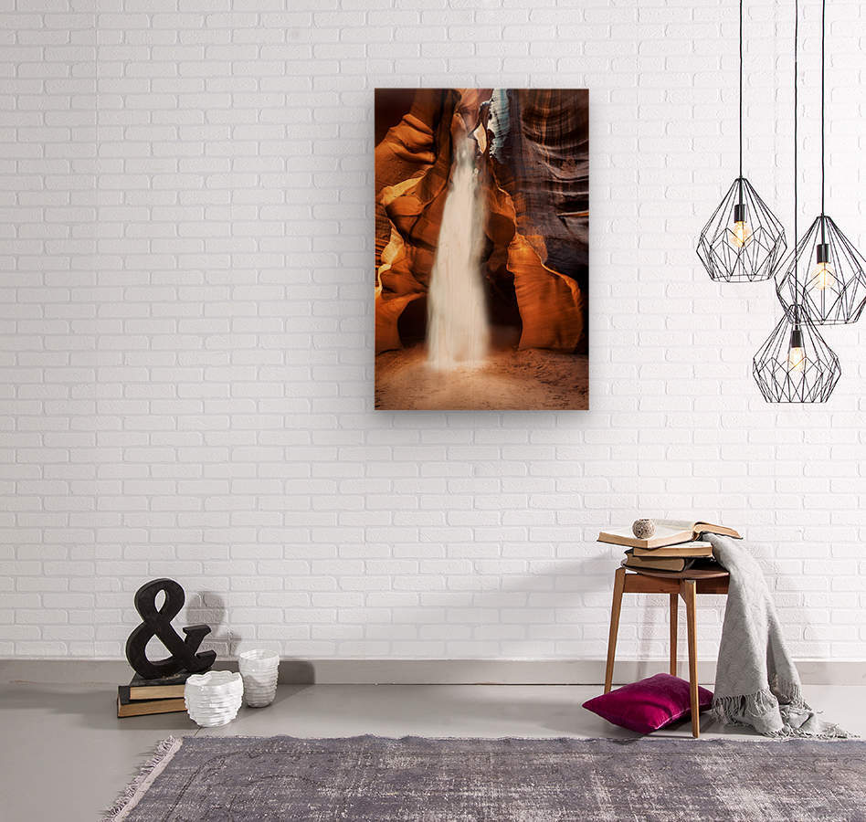Slot Canyon Light Beam  Wood print