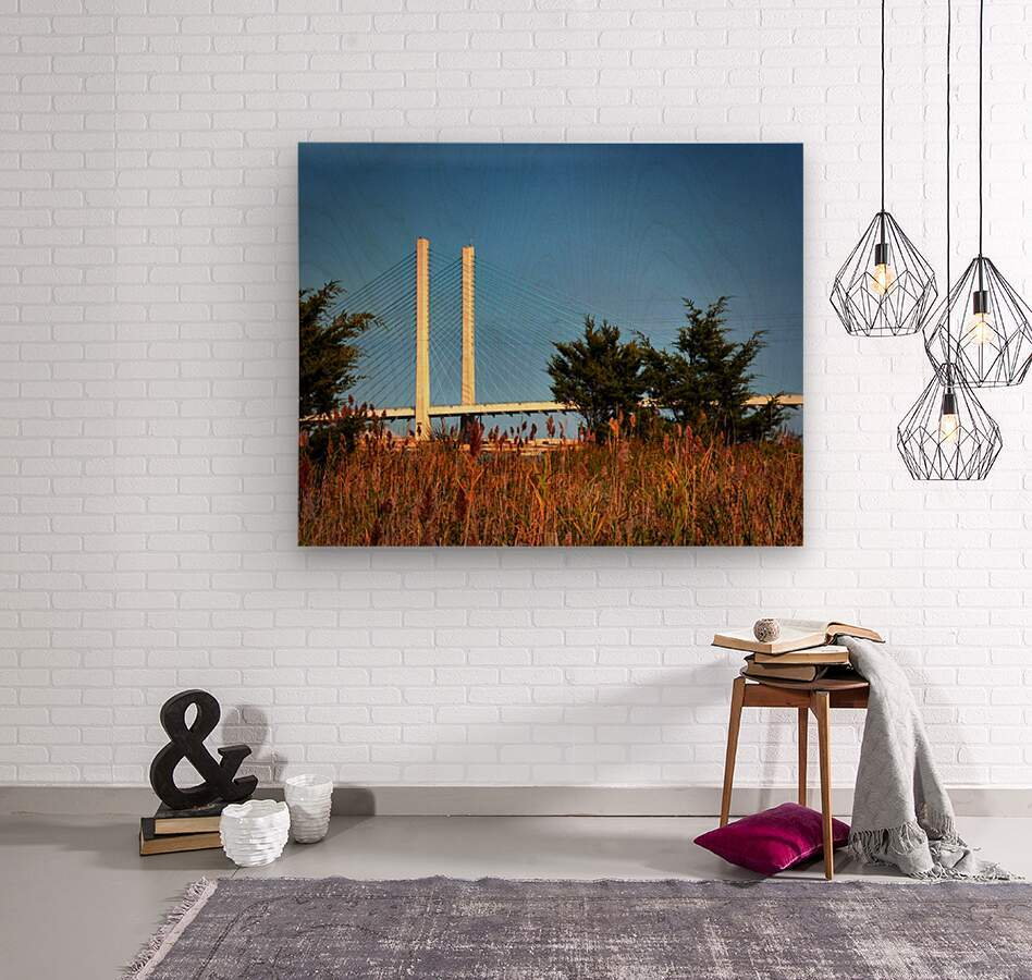 Indian River Bridge Stanchions Standing Tall  Wood print