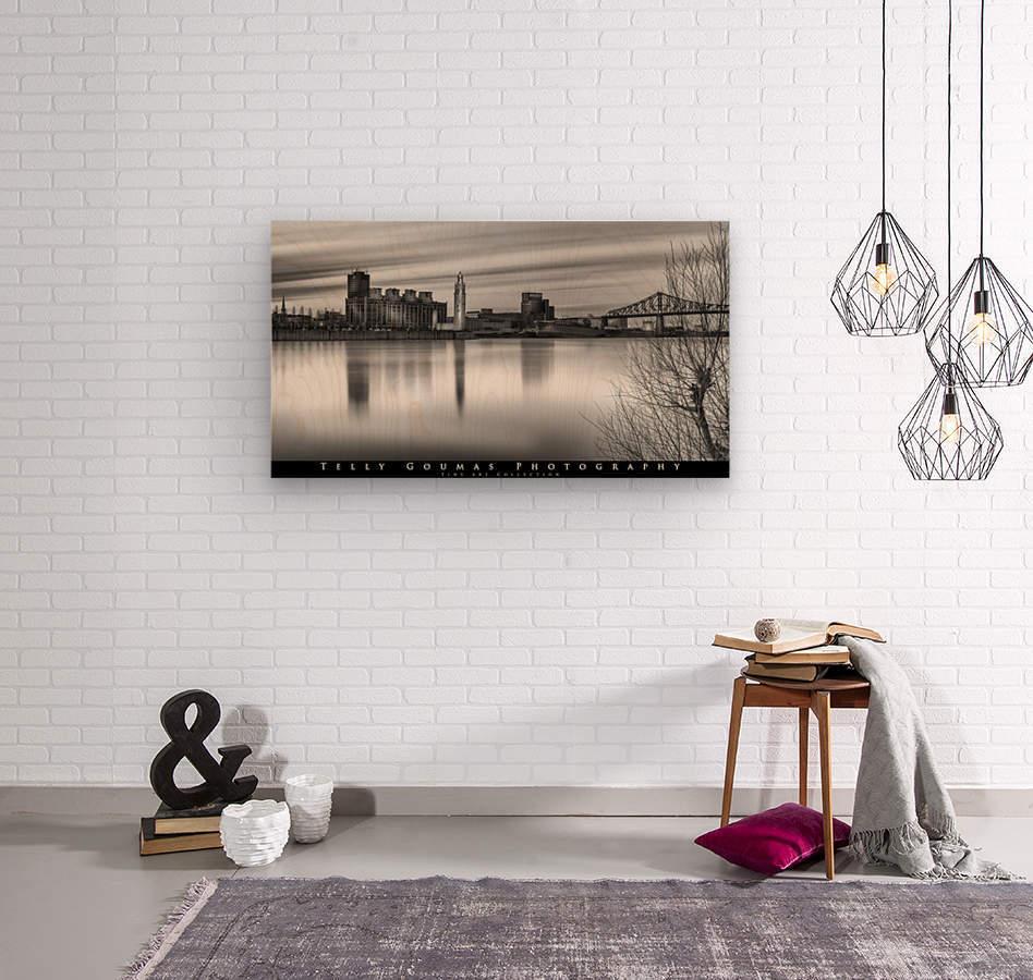Long Exposure MTL  Wood print