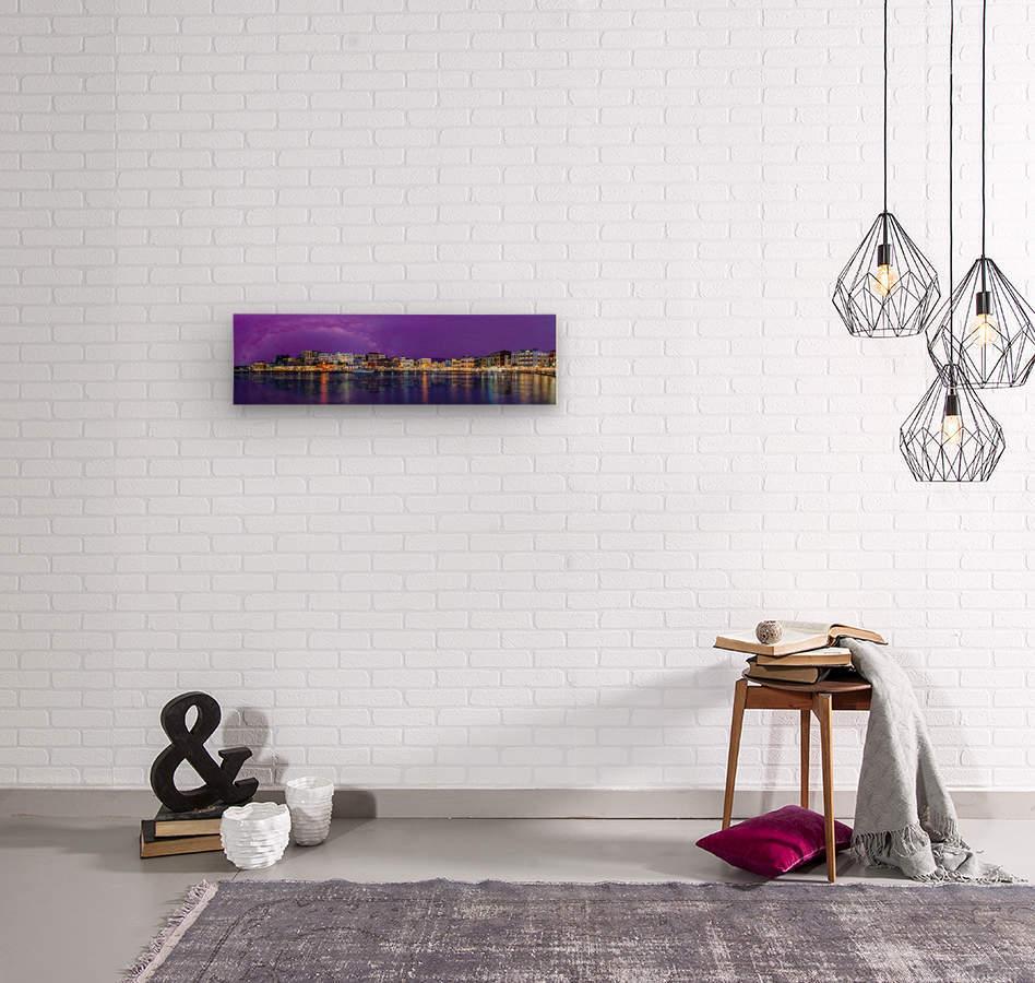 Chania Pano  Wood print