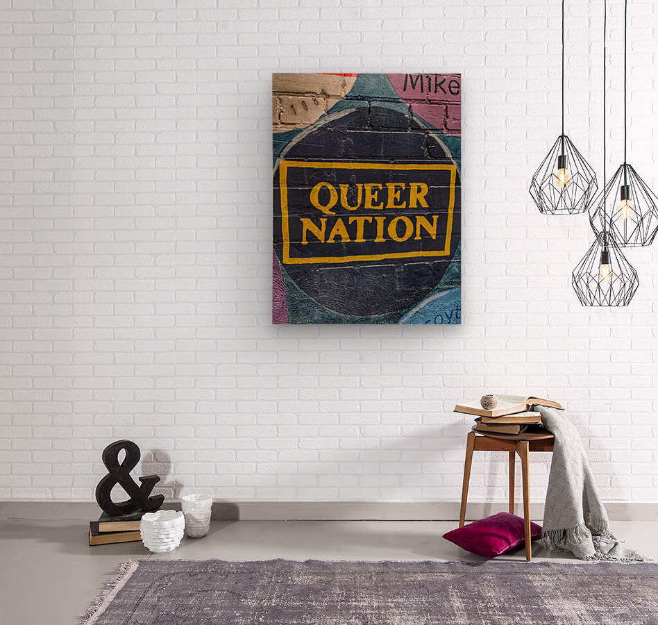 Queer Nation - Toronto  Wood print