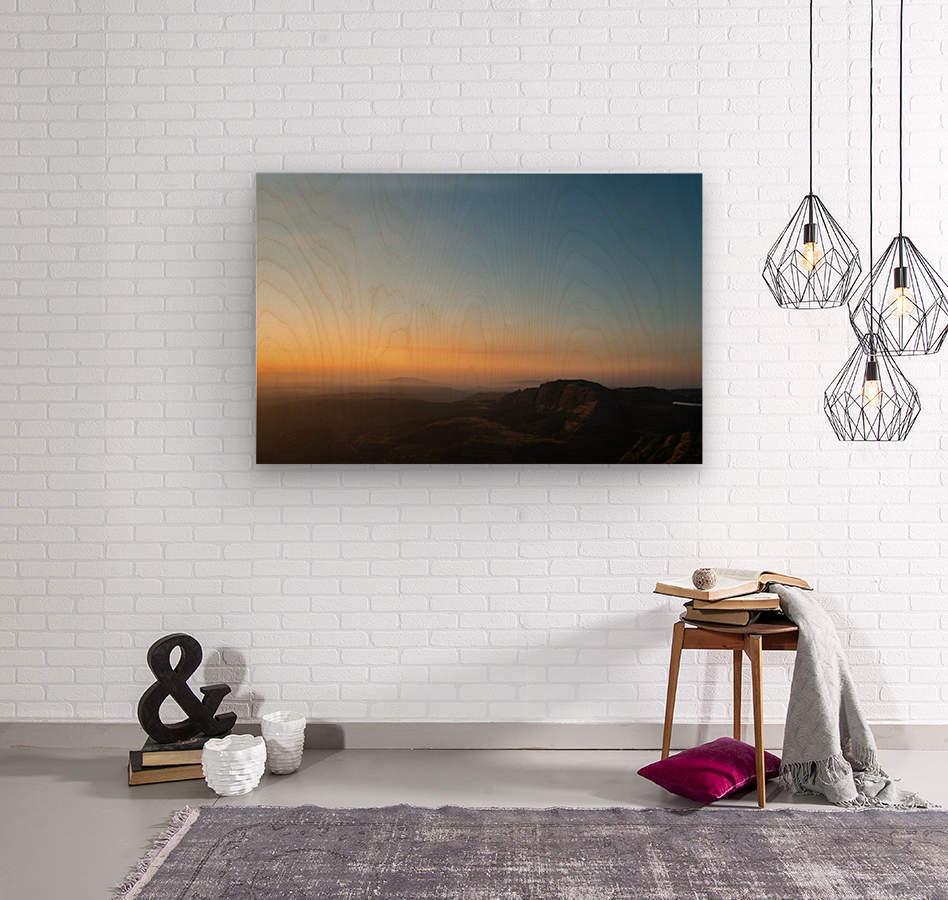 Calming Sunset  Wood print
