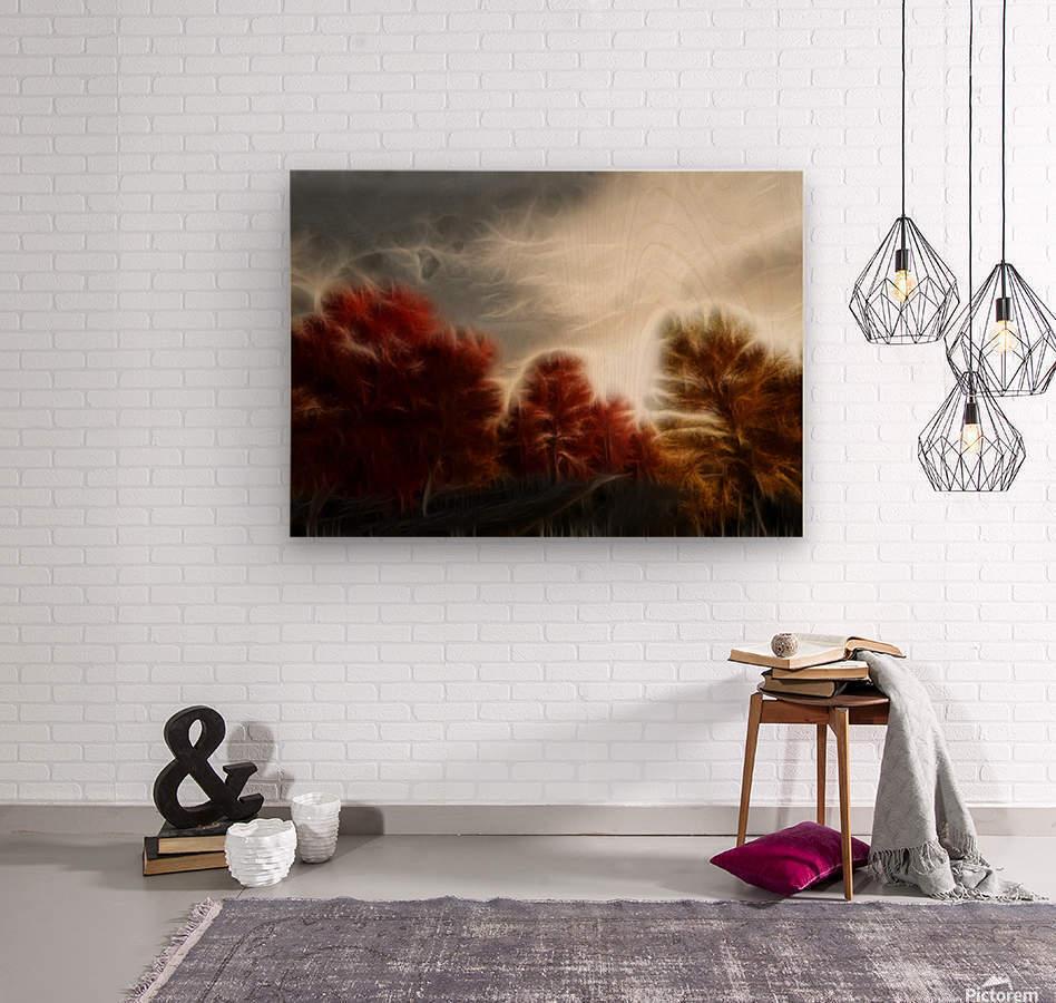Impressionist Autumn Scene  Wood print