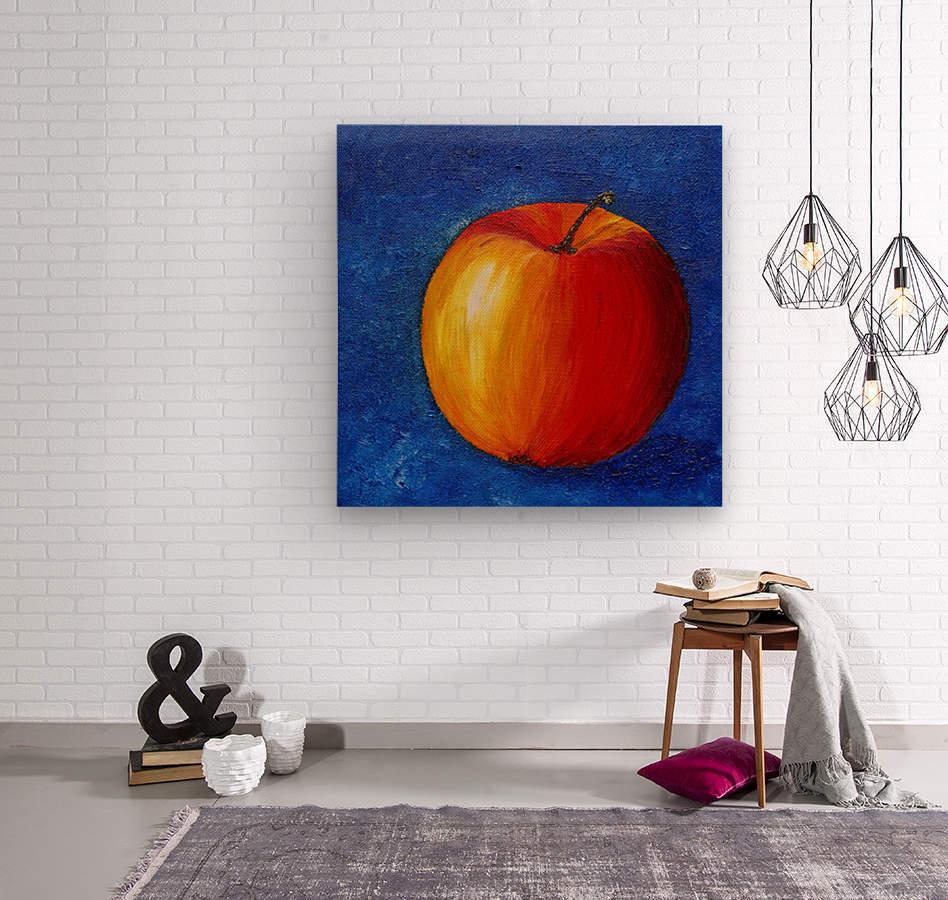 Red Apple - Still Life Painting  Wood print