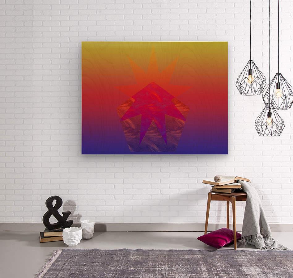 Polygon & Star V4  Wood print