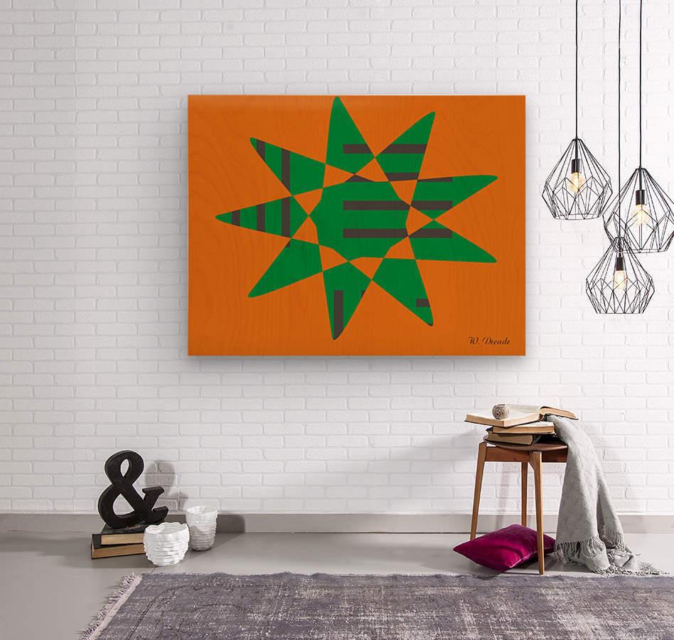 Star 1  Wood print