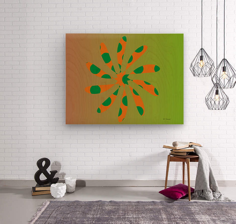 Star Shaped Polygons 01  Wood print