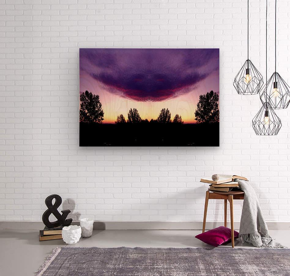nube 50  Wood print
