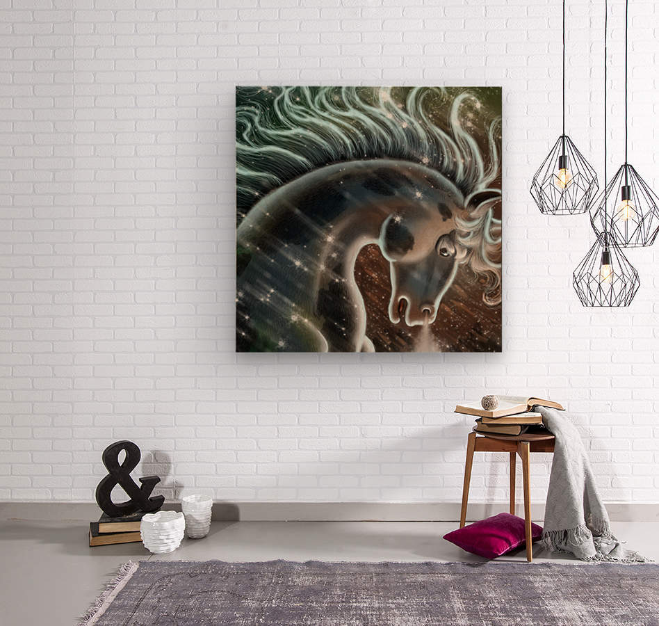 horse nature stallion equestrian  Wood print