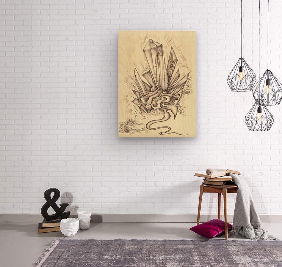 Crystal  Wood print