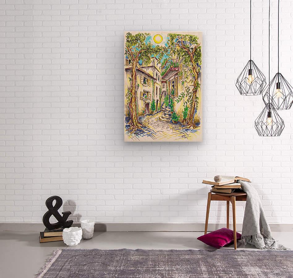 Siesta_Italiana  Wood print