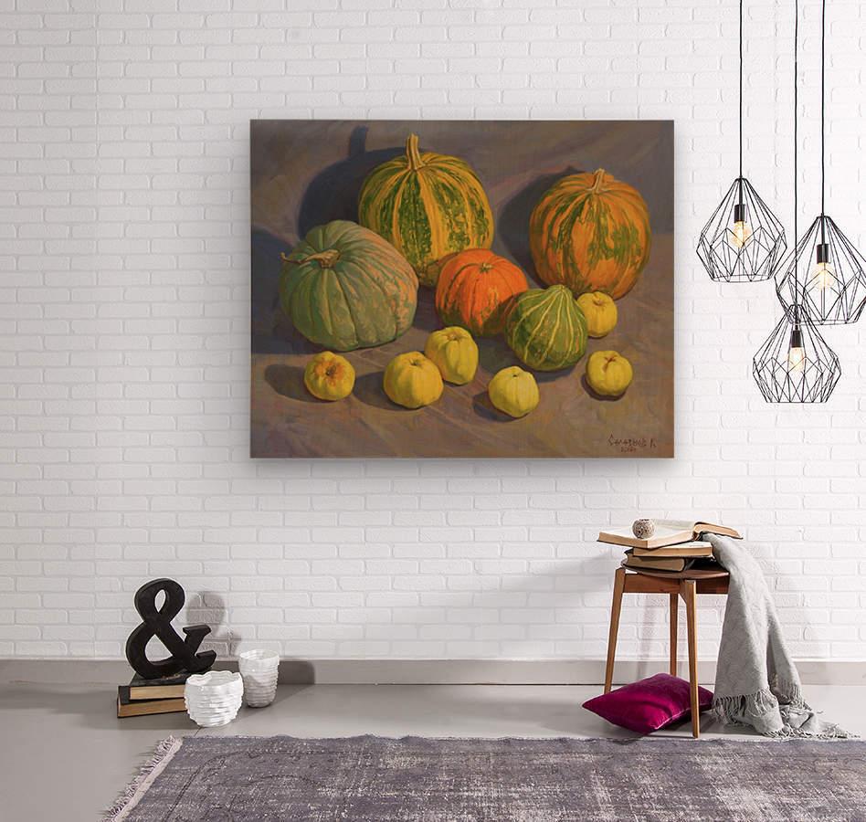 Pumpkins_And_Apples  Wood print