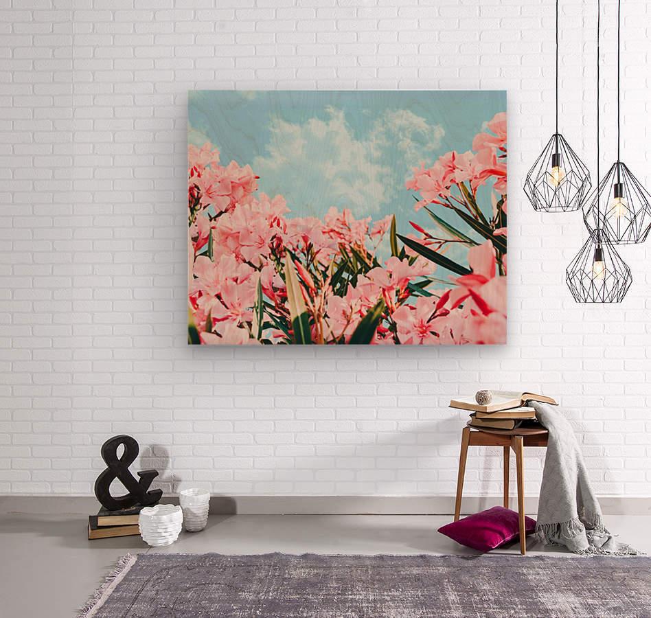 Blush Blossom II  Wood print