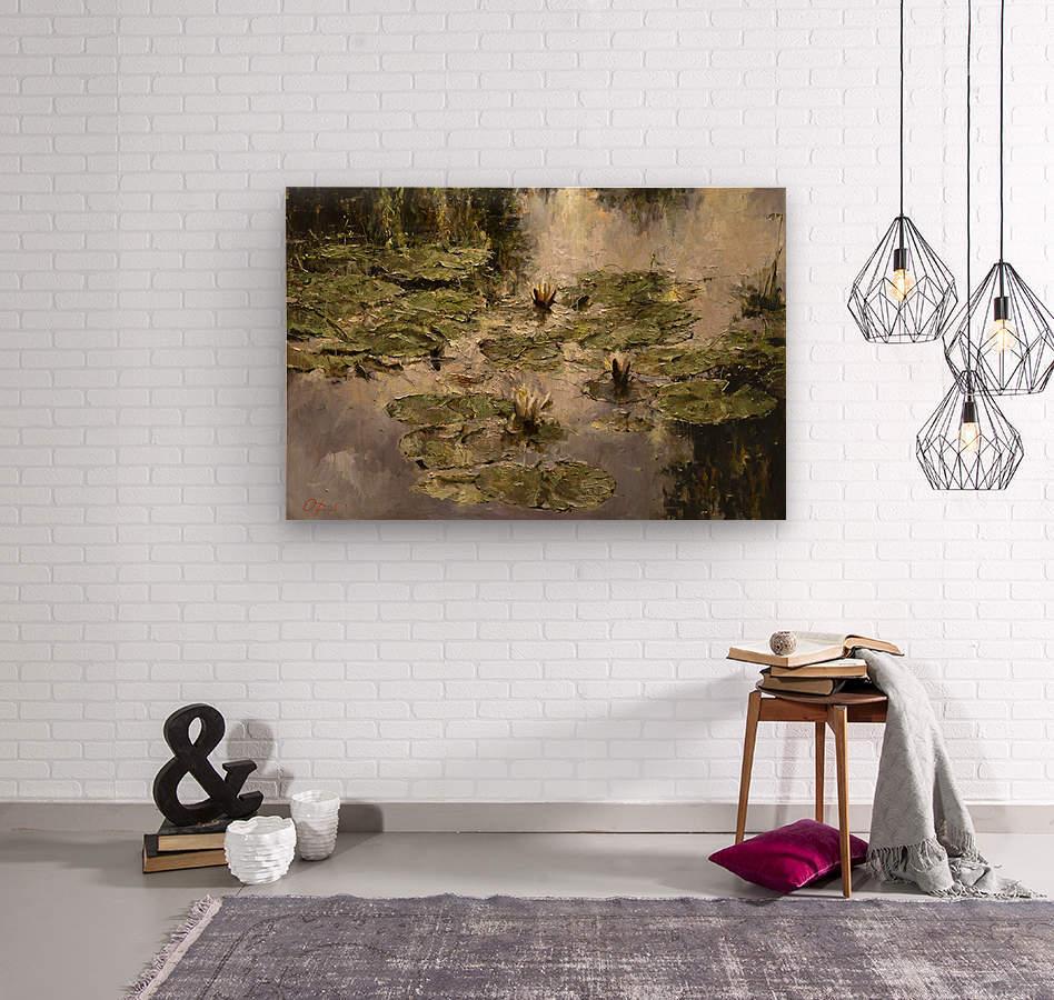 Old_pond  Wood print