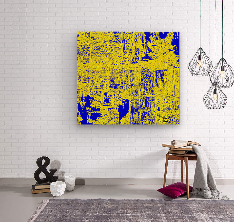 abstract by DePace  Wood print