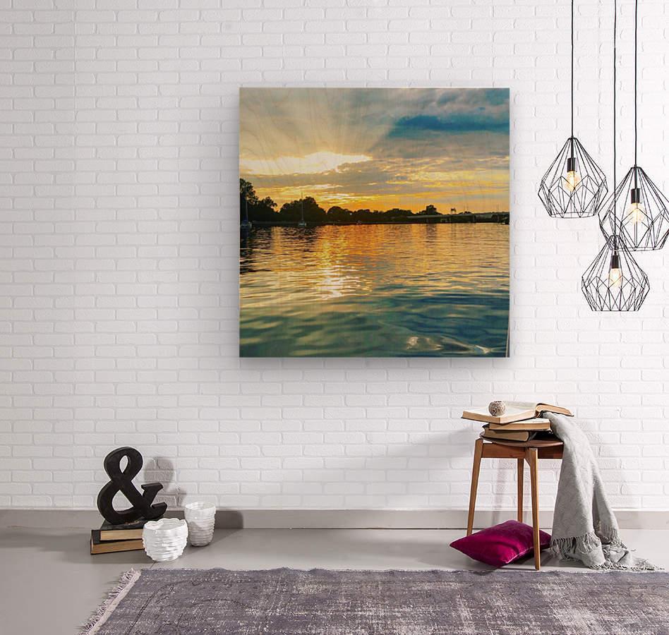 Washington Channel Sunset  Wood print