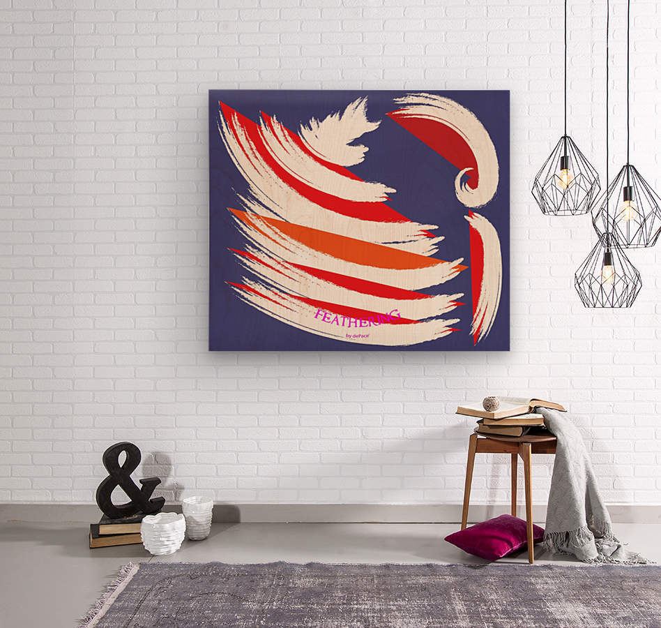FEATHERING BY DEPACE  Wood print