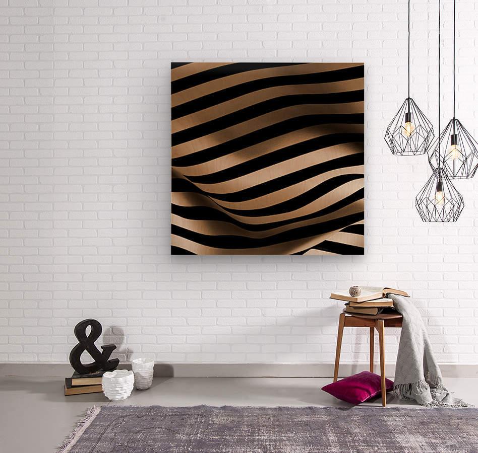 CURVY3  Wood print