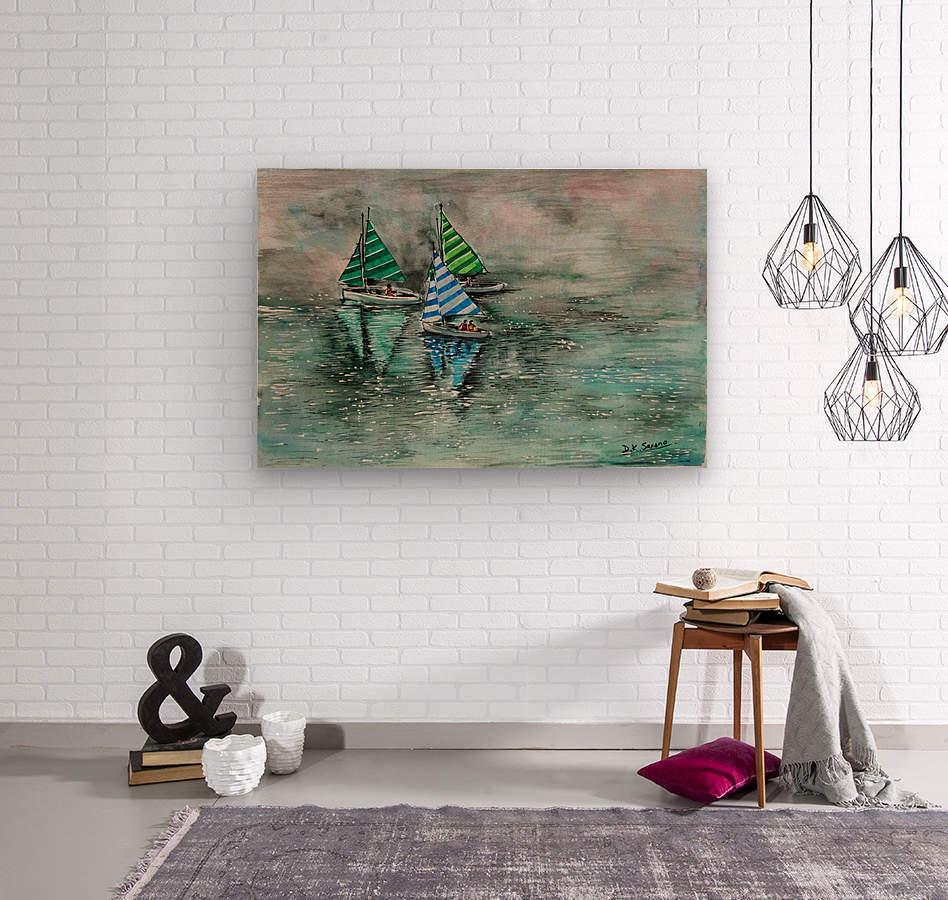 Naini lake_DKS  Impression sur bois