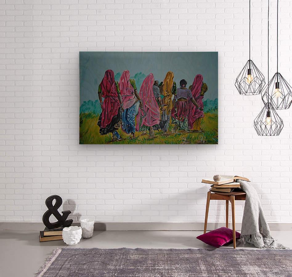 Village Women_DKS  Wood print