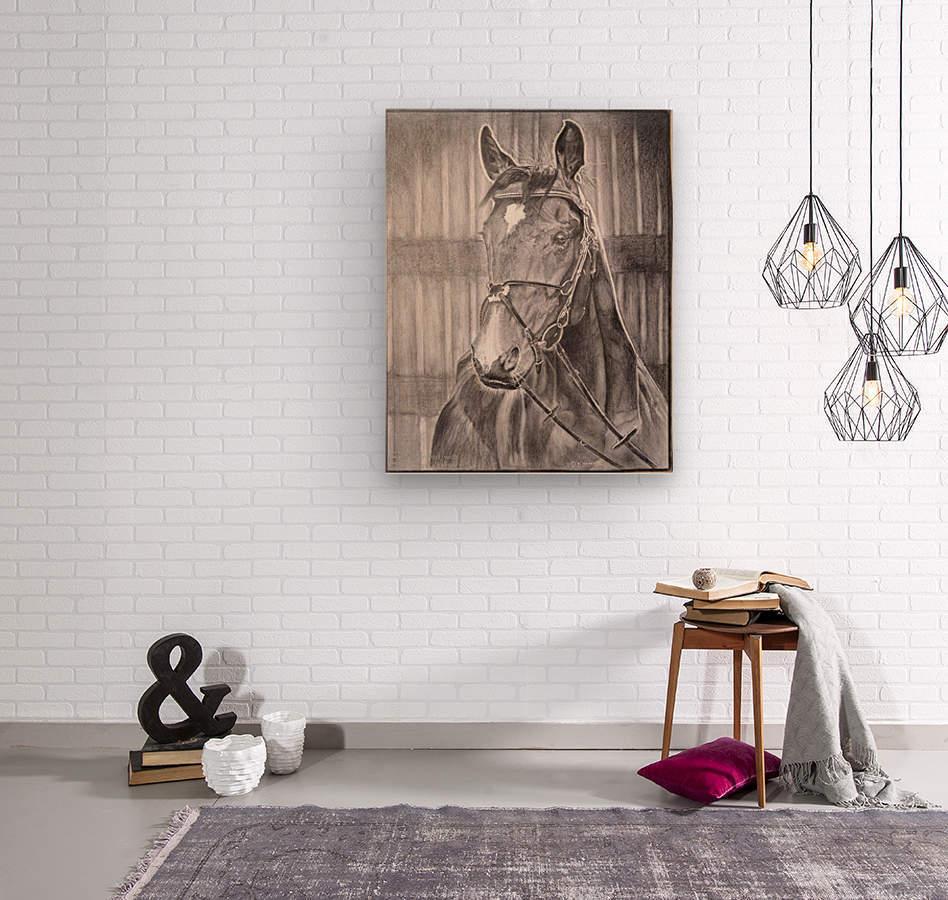 Horse_DKS  Impression sur bois