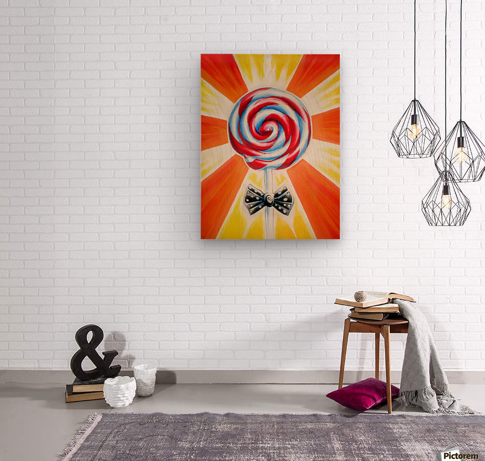 Lollipop  Wood print