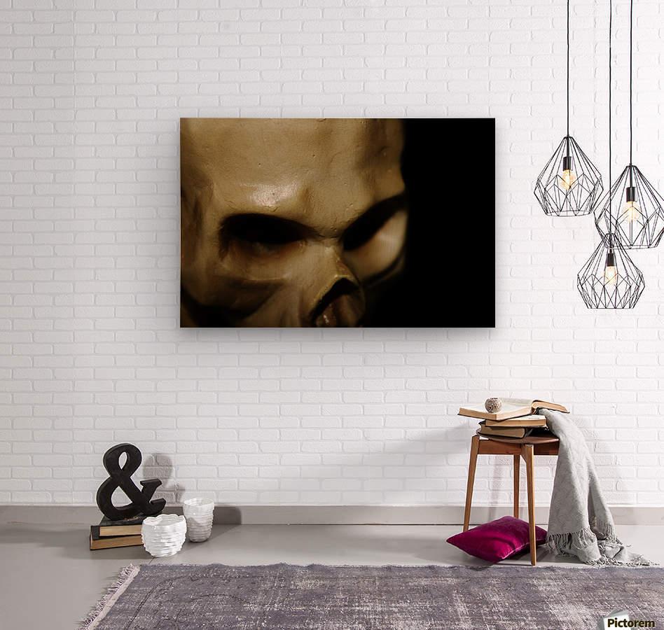 Skeleton Head  Wood print