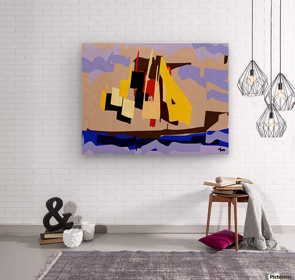 0072  Wood print