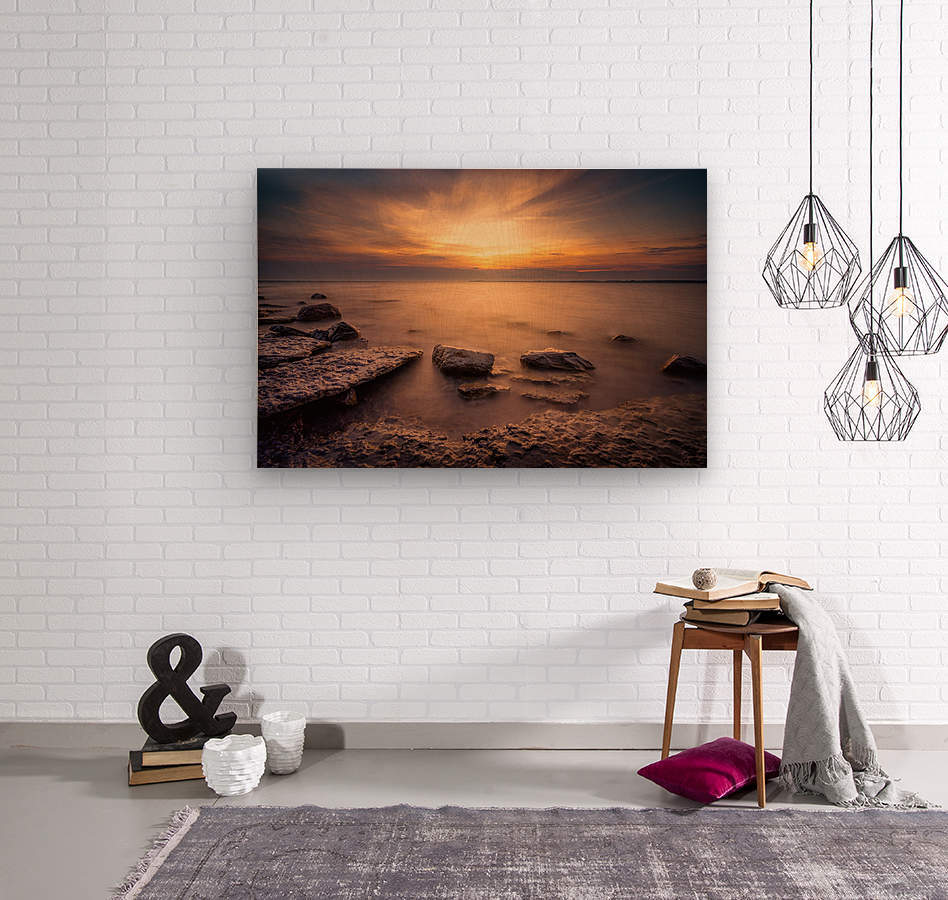 Point Petre Sunset  Wood print