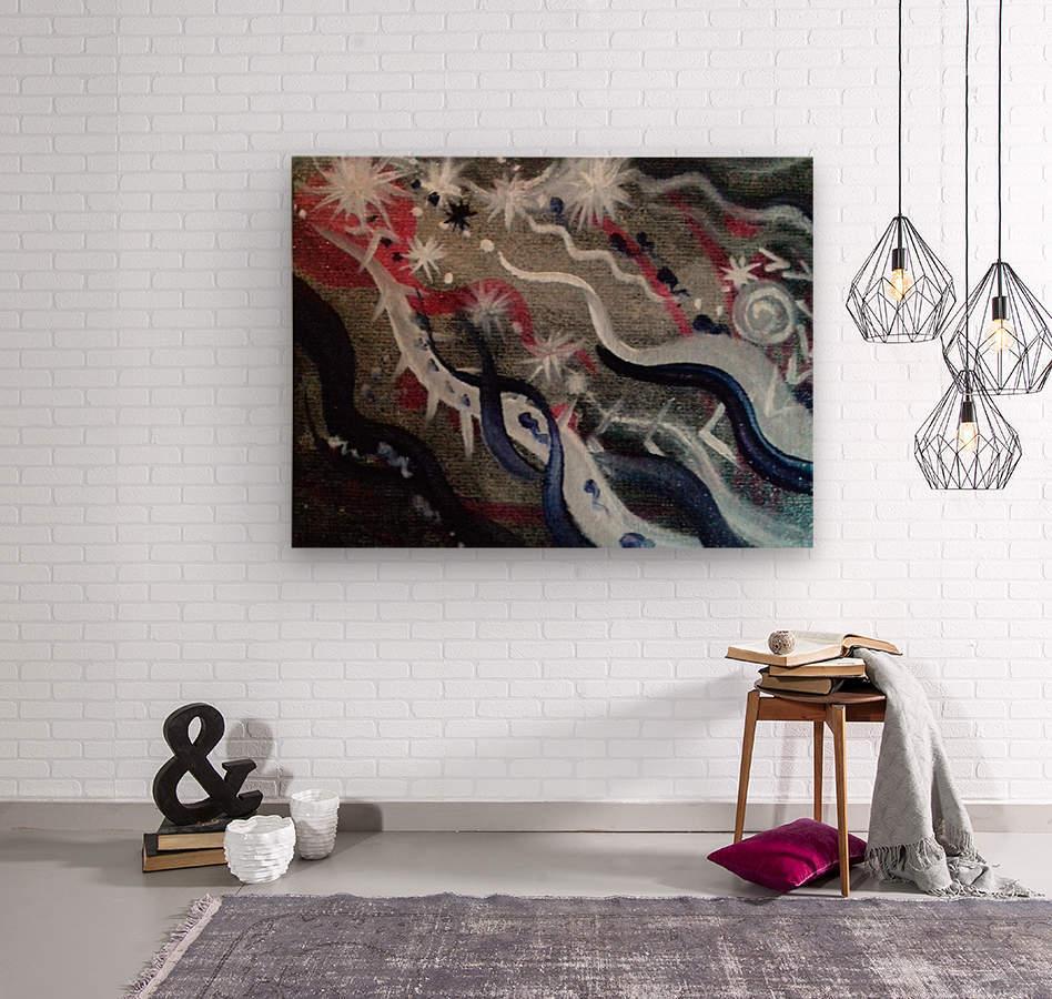 Shungite.Epiphany4.  Wood print