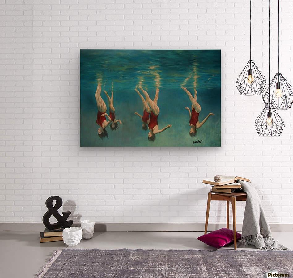 swimmers  Wood print